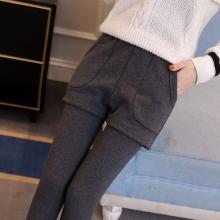 2015夏季薄款八九分裤 弹力小脚直筒女裤 大码显瘦彩色休闲裤